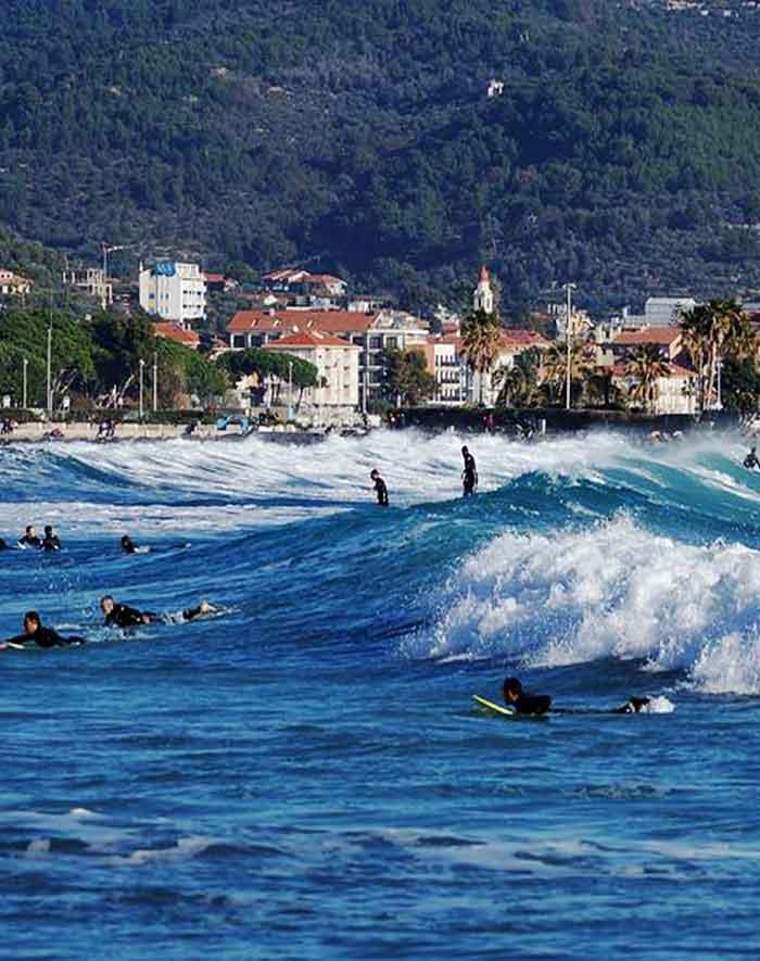 surf in liguria - diano marina